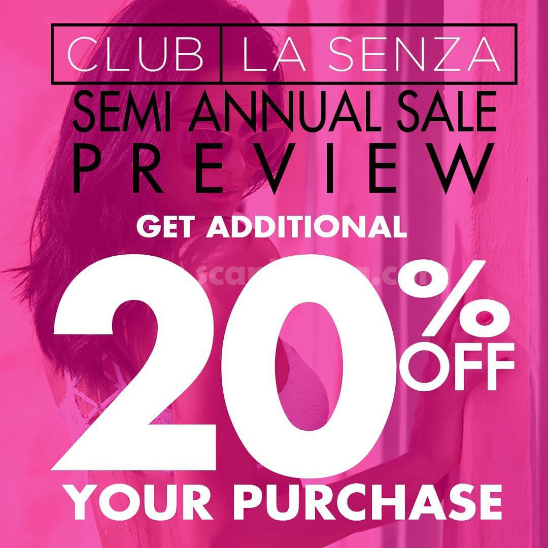 LASENZA Promo Semi Annual Sale preview Get Additional Disc Up to 20% Off*