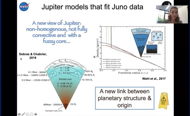 Using Juno data to make models of Jupiter's interior (Source: Ravit Helled, U of Z.)