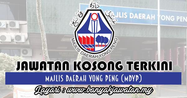 Jawatan Kosong 2018 di Majlis Daerah Yong Peng (MDYP)