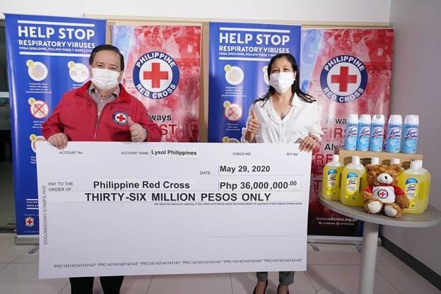 Lysol doa P36M à Cruz Vermelha das Filipinas para a batalha COVID-19 | Querida Kitty Kittie Kath 3