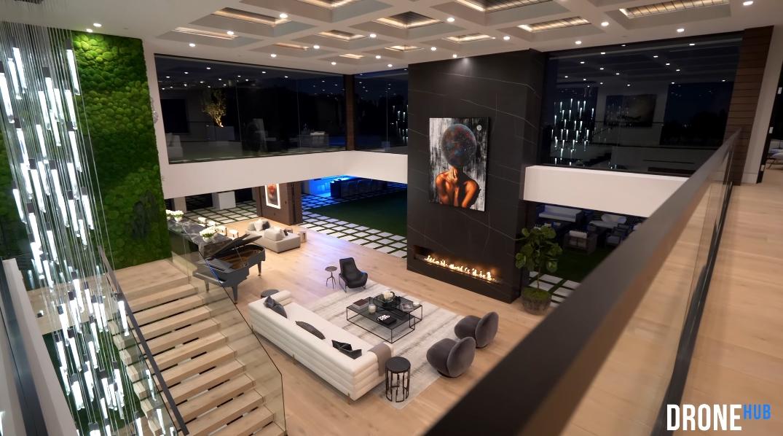 83 Photos vs. Tour 1047 N Bundy Dr, Los Angeles, CA Ultra Luxury Mega-Mansion Interior Design