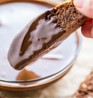 Chocolate Pecan Biscotti #dessert #chocolate