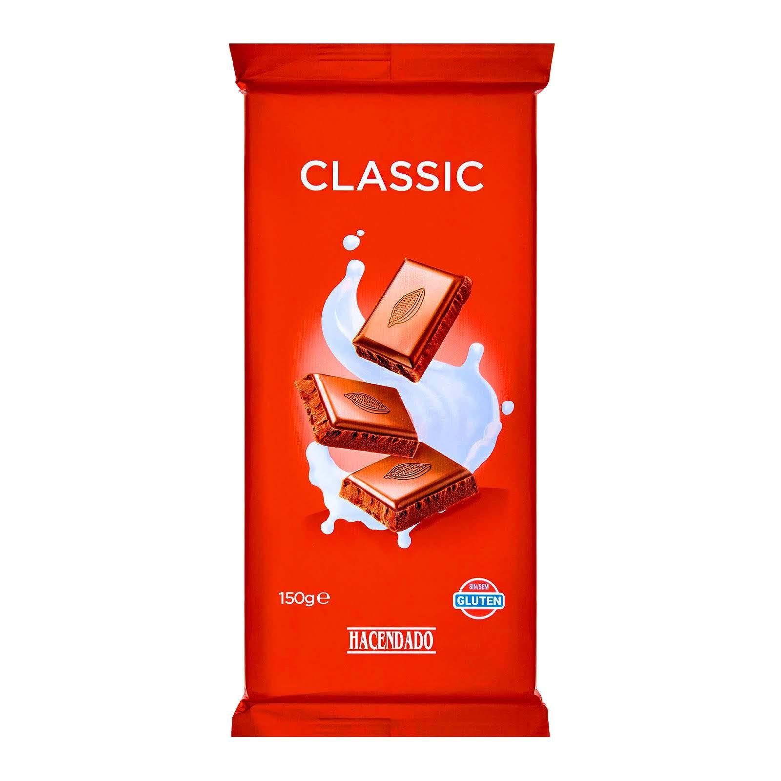 Chocolate con leche extrafino classic Hacendado