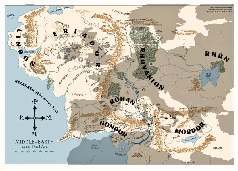 jrr tolkein lord of the rings european history in the ice age