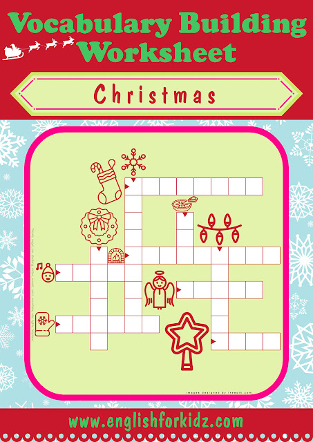 ESL Christmas worksheet, crossword puzzle