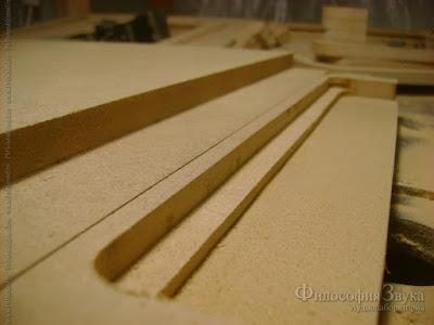 Фрезировка элементов для боковин корпуса гибридного усилителя