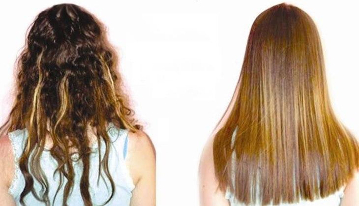 Cauterização em cabelo ressecado