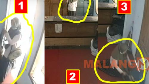 Terekam CCTV, Pencuri Wanita di Pondok Gasak Uang 130 Juta Rupiah
