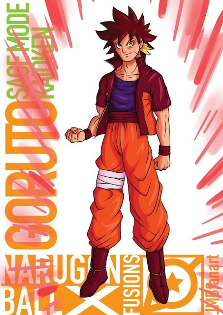 1- Goruto (Goku e Naruto)