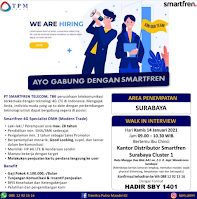 Walk In Interview di PT. Smartfren Telecom Tbk Surabaya Januari 2021