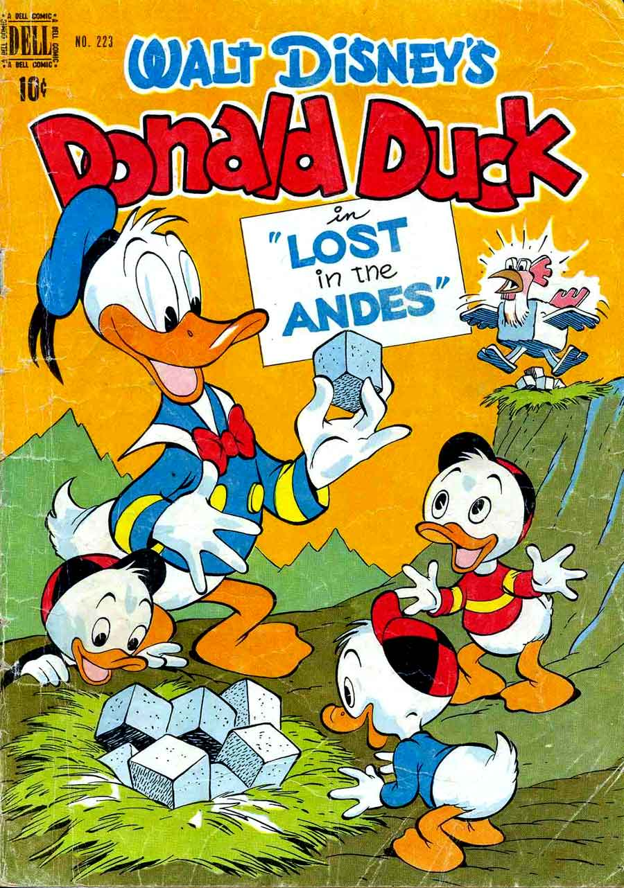 Donald Duck / Four Color Comics v2 #223 - Carl Barks 1940s comic book cover art