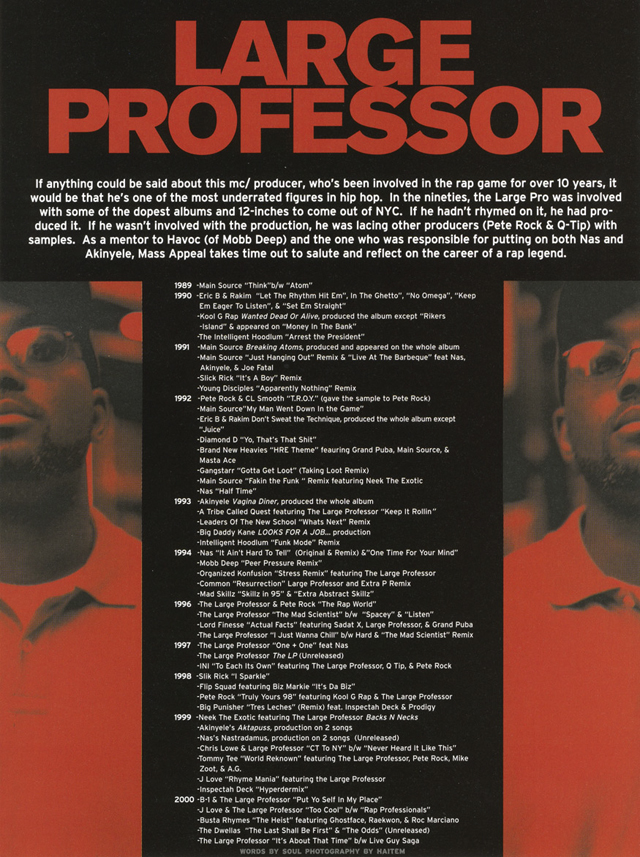large professor xtra p mass appeal hip hop nostalgia