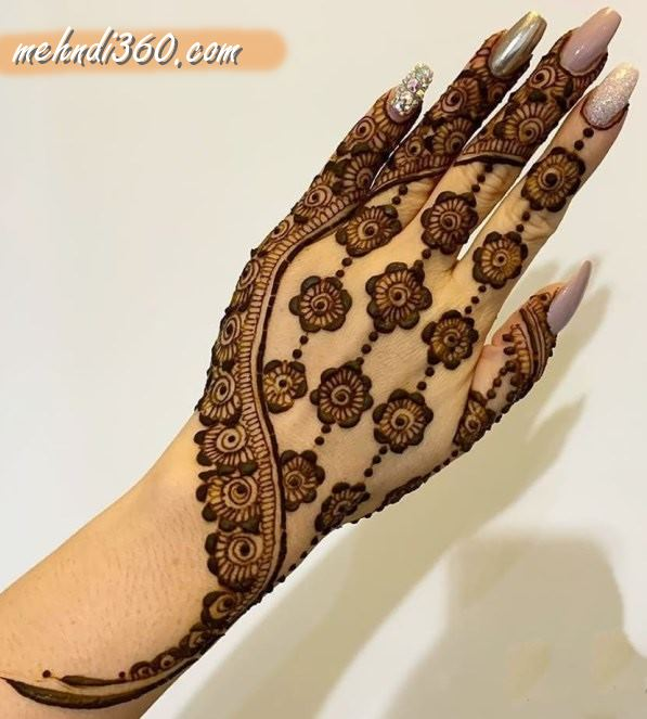 Flower Mehndi Design Back Hand