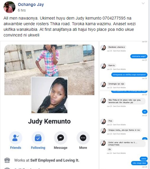 jela%2B5 - BE-WARNED ! Here's the Kisii LADY luring men with sweet words along Thika Road and then setting them to thugs(PHOTOs)