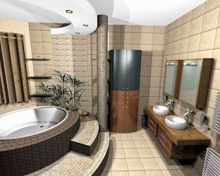 Desain Kamar Mandi Modern Terbaru 2017