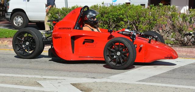 Miami Beach cars racing