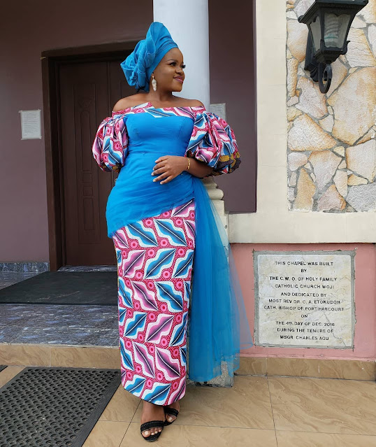 Stylish and Gorgeous Ankara Lace Asoebi Styles for creative Ladies 2020