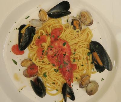 Excellent Tagliarini Frutti di Mare at Angolo 48 Restaurant, Santa Margherita.
