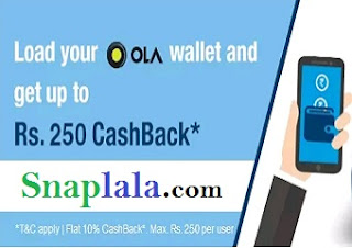 ola cab offer, ola payzapp offer, add money offer, 250 cashback , 10% cashback offer