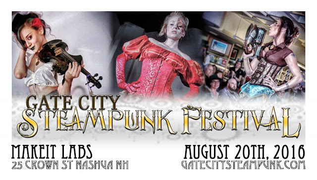 Steampunk event in Nashua, New Hampshire: Gate City Steampunk Festival by MakeIt Labs