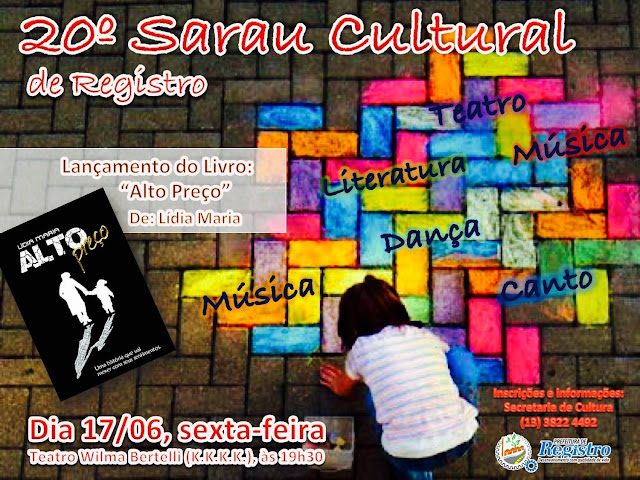 Secretaria de Cultura de Registro-SP realiza 20º Sarau Cultural na sexta-feira, 1706