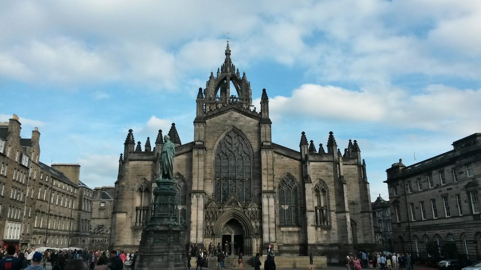 edinburgh scotland iskoçyaroyal mile st giles cathedral katedrali britanya