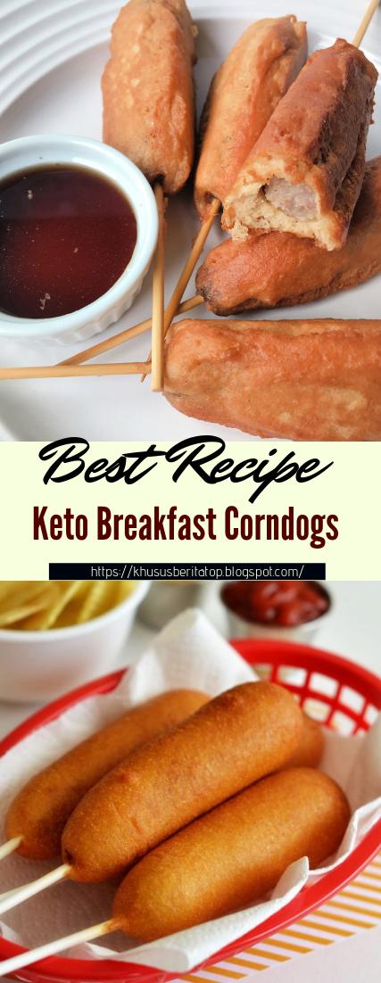Keto Breakfast Corndogs #healthyfood #dietketo #breakfast #food