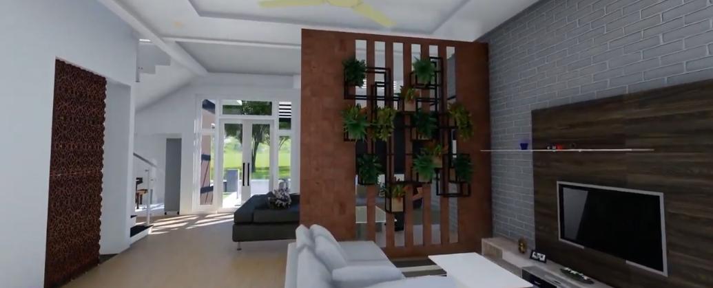 Desain Rumah Minimalis Tema Tropis Lengkap Dengan Kolam