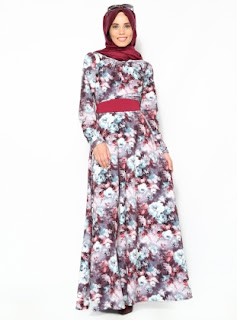 Model long dress muslim atau gamis