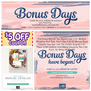 What's Up! Wednesday - Bonus Days Are Back! (Earn Now! Spend In August!)