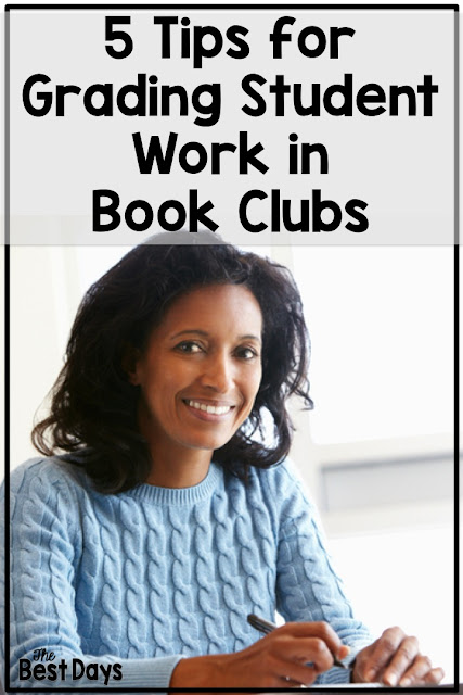 5 great tips for Book Club grading in your elementary classroom.