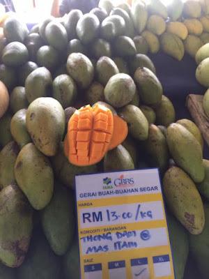 Harga Pasaran Buah Mangga Thong Dam Di Malaysia