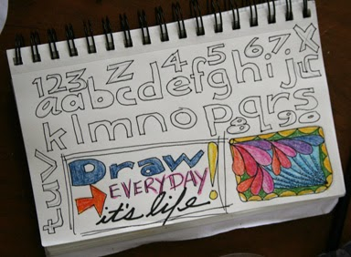 Lettering- Art Journal by Carol Marion