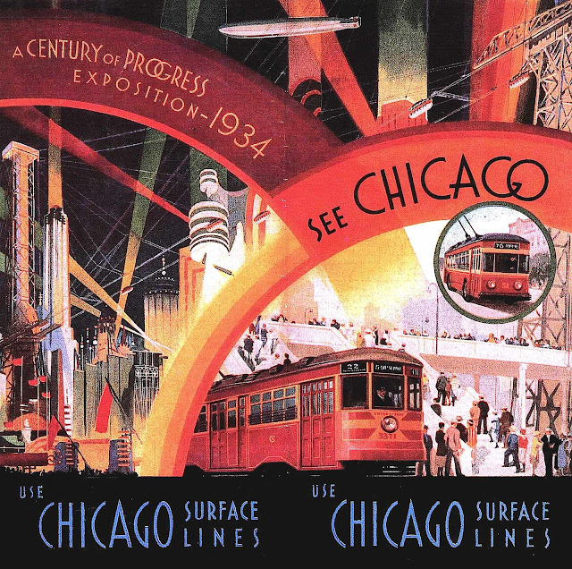 A poster for the 1934 World's Fair in Chicago