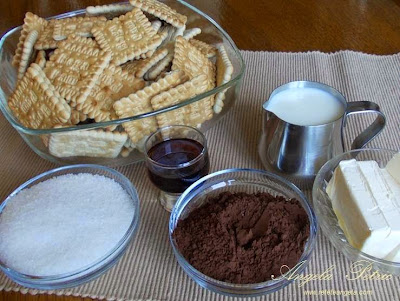 Preparare salam de biscuiti-ingrediente