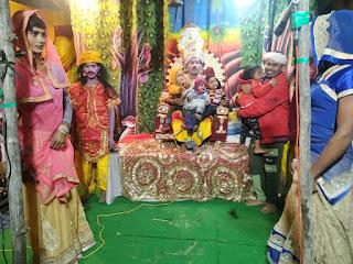 राम का जन्म होते ही जयघोष से गूँज उठा पण्डाल   #NayaSaberaNetwork