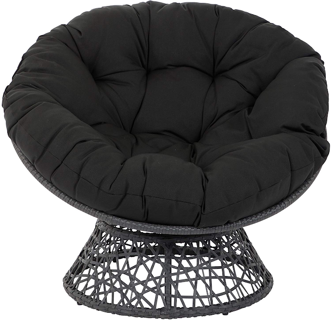 New Model for Bean Bag Chair, Round Sofa, Single Couch With Black Minimalist and Modern Design