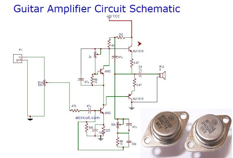 Guitar Power Amplifier Circuit