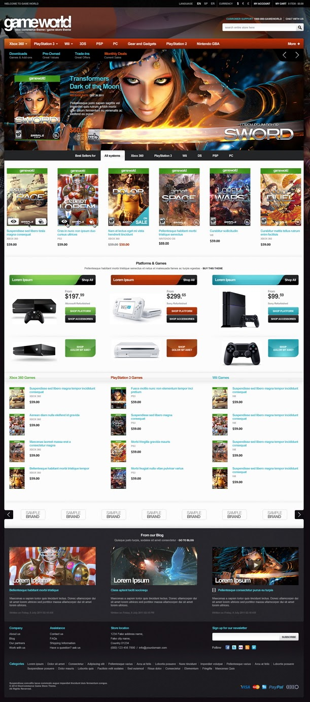 GameWorld new WooCommerce Game Theme