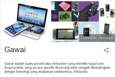 Pengertian gadget menurut Wikipedia