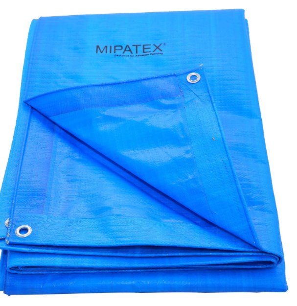 Mipatex Tarpaulin Sheet Waterproof Heavy Duty 9ft x 6ft, Poly Tarp with Aluminium Eyelets Every 3 feet - Multipurpose 150 GSM Plastic Cover for Truck, Roof, Rain, Outdoor or Sun (Blue)