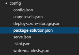 package-solution.json file