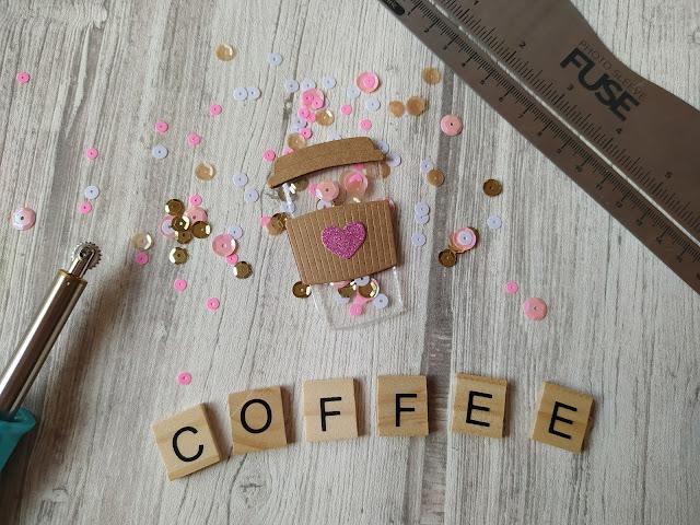 Tuto Scrapbooking Embellissement Shaker Café