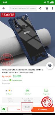 """3. Terakhir jika pop up """"Disalin """"sudah muncul, itu menandakan link produk tersebut sudah disalin dan siap dibagikan ke Facebook, Instagram, atau ke WhatsApp"""