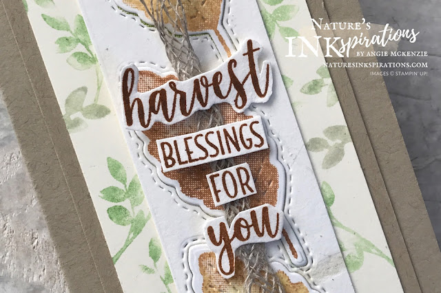 By Angie McKenzie for The Joy of Sets Blog Hop; Click READ or VISIT to go to my blog for details! Featuring the Love of Leaves Bundle with the Rooted in Nature and Country Home stamp sets to make a harvest themed card; #handmadecards #naturesinkspirations #joyofsetsbloghop #occasioncards #harvestcards #stampinup #loveofleavesbundle #rootedinnaturestampset #countryhomestampset #loveofleavesstampset #stitchedleavesdies #watercoloringonstamps #cardtechniques #stampinupinks #makingotherssmileonecreationatatime