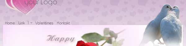 Free Joomla 1.7 Template Valentines