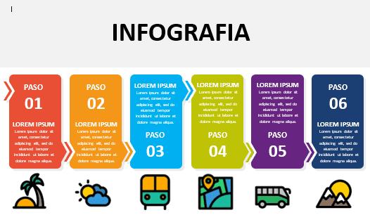 Plantilla para infografía modificable en Word modelo 26