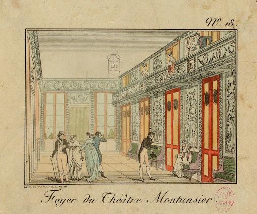 Nancy Storace y a chanté Mozart en 1797 : foyer du Théâtre Montansier au Palais Royal