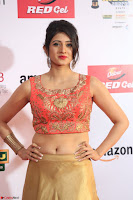 Harshika Ponnacha in orange blouuse brown skirt at Mirchi Music Awards South 2017 ~  Exclusive Celebrities Galleries 080.JPG