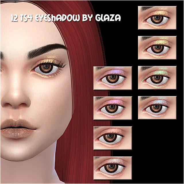 12 ts4 eyeshadow by glaza
